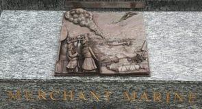 Escultura del arte del alivio de Marine 3D del comerciante en San Francisco Imágenes de archivo libres de regalías