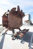 Escultura del arte moderno del metal Imágenes de archivo libres de regalías