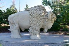 Escultura del búfalo Imagenes de archivo