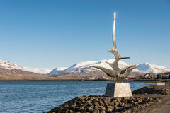 Escultura del barco de Akureyri Fotografía de archivo libre de regalías