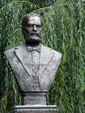 Escultura del busto de August Treboniu Laurian Imagen de archivo