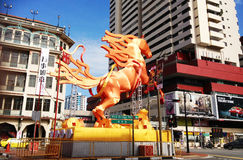 Escultura del caballo - Chinatown Foto de archivo libre de regalías