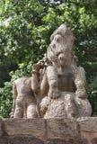 Escultura del caballo de guerra del frente Fotos de archivo
