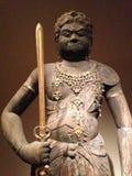 """Escultura del  del  Å de MyÅ del  de FudÅ (ja del  del rÄ del  del vidyÄ de Achala†"""") en el museo de arte metropolitano Imagen de archivo libre de regalías"""