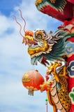 Escultura del dragón Fotografía de archivo