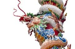 Escultura del dragón con el polo rojo Imagen de archivo