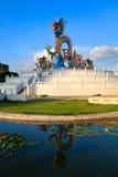 Escultura del dragón en el parque Foto de archivo libre de regalías