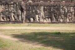 Escultura del elefante en Angkor Thom. Foto de archivo libre de regalías