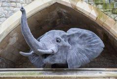 Escultura del elefante en la torre de Londres Fotos de archivo libres de regalías