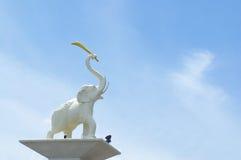 Escultura del elefante en Tailandia Fotos de archivo