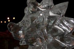 Escultura del erizo del hielo foto de archivo libre de regalías