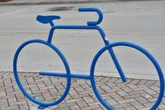 Escultura del estante de la bici Imagen de archivo