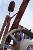 Escultura del hierro y del acero en Wichita Imágenes de archivo libres de regalías