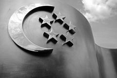 Escultura del indicador de Singapur fotos de archivo
