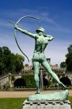 Escultura del jardín de Sanssouci del archer en Potsdam Imágenes de archivo libres de regalías