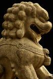 Escultura del león de China Fotografía de archivo