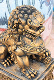 Escultura del león en el templo en Tailandia Imágenes de archivo libres de regalías