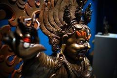 Escultura del Mahakala con dos brazos Bernagchen Foto de archivo