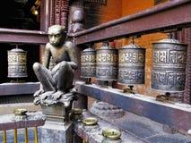 Escultura del mono imagen de archivo libre de regalías