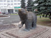 escultura del oso foto de archivo