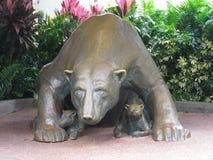 Escultura del oso polar fotografía de archivo