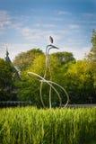 Escultura del pájaro de Amsterdam Fotos de archivo