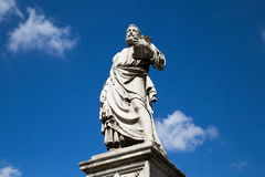Escultura del puente del ángel del santo Fotografía de archivo