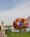 Escultura del ramo de la flor en Lyon fotos de archivo libres de regalías