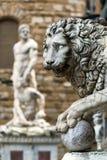Escultura del renacimiento en el della Signoria de la plaza en Florenc Fotografía de archivo