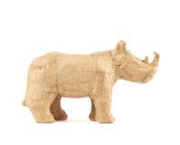 Escultura del rinoceronte del rinoceronte aislada Imagen de archivo