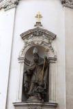 Escultura del santo fotografía de archivo