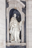 Escultura del St Bernard Italian Baroque imagenes de archivo