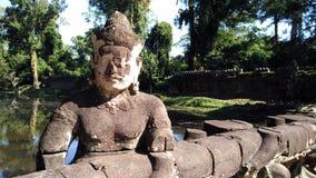 Escultura del templo de Siem Reap Camboya Imagen de archivo libre de regalías