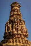 Escultura del templo de Sun, Modhera, la India Foto de archivo libre de regalías