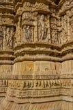 Escultura del templo de Sun, Modhera, la India Imagen de archivo libre de regalías