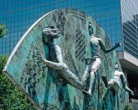 Escultura del tributo en parque olímpico centenario Fotografía de archivo