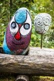 Escultura divertida de la roca Fotografía de archivo