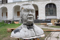 Escultura divertida del presidente ucraniano Fotografía de archivo libre de regalías
