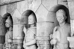 Escultura do bastião do ` s dos pescadores em Budapest fotos de stock royalty free