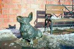 Escultura do cão do corgi de Galês Imagens de Stock