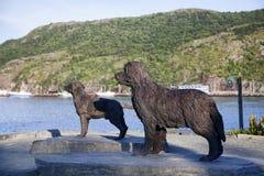 Escultura do cão, St. John, Terra Nova Fotografia de Stock Royalty Free
