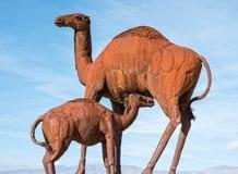 Escultura do camelo em prados de Galleta Foto de Stock