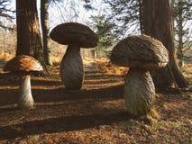 Escultura do cogumelo do outono Imagem de Stock