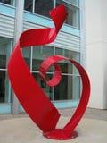 Escultura do coração do metal Foto de Stock