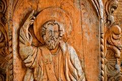 Escultura do deus na madeira fotos de stock