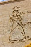 Escultura do egípcio dos Pharaohs imagem de stock royalty free