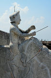 Escultura do elefante da equitação do homem, telhado-parte superior, Mandaw Imagem de Stock Royalty Free