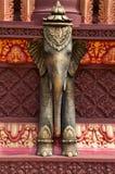 Escultura do elefante no templo em Cambodia Fotografia de Stock Royalty Free