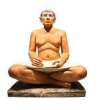 A escultura do escrevente egípcio fotografia de stock royalty free