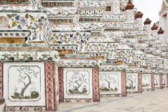 Escultura do estuque no pagode em Wat Arun Foto de Stock Royalty Free